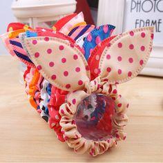 20 pcs styling werkzeuge flechter bunny blume haarspange stirnbänder kaninchen ohren dot headwear elastisches haarband seil haarschmuck