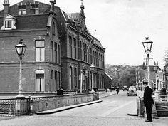 De Haagweg met de Haagbrug en de ambachtsschool (augustus 1936).