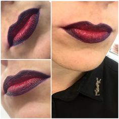 Ombré lip with black eyeliner and rouge Pur couture lipstick