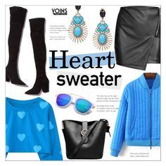 """""""Heart Sweater ~ Yoins #11"""" by alexandrazeres ❤ liked on Polyvore featuring Loeffler Randall"""