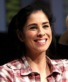 Sarah Silverman (1970-) by Gage Skidmore.jpg - an American stand-up comedian, actress, producer, and writer. Her comedy addresses social taboos and controversial topics, such as racism, sexism, and religion, having her comic character endorse them in an ironic fashion.[3][4] For her work on television she won two Primetime Emmy Awards.