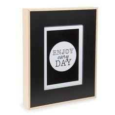 WILL wooden photo frame, black, 22 x 27 cm