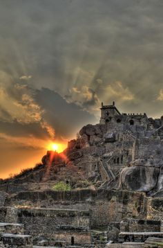 golconda fort by mohamad khademi on Indian Architecture, Ancient Architecture, Temple Architecture, Beautiful Places To Visit, Places To See, Castle On The Hill, India Travel Guide, Amazing India, Future Travel