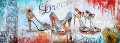Sweet Living Schilderij 150x50 - Schoenen Pisa - Sweet Living Shop