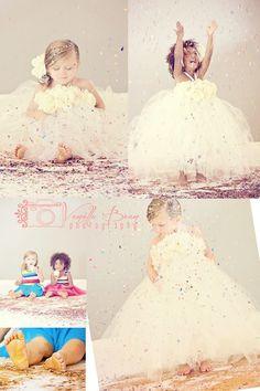 glitter shoot, puffi dress