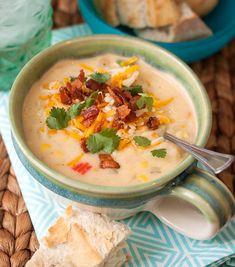 corn recipes, southwest potato, food, bell peppers, potatoes, chowders, corn chowder, soup, sweet corn