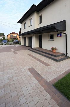 Paving Slabs, Front Yard Landscaping, Pavement, Paths, Sweet Home, House Design, Landscape, Decoration, Outdoor Decor