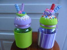 Vidro decorado Cupcakes