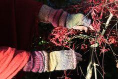 Ombre armwarmers with tweedy rainbow effect wool by Katiecuckoo, Knitting Yarn, Hand Knitting, Double Knitting, Arm Warmers, Rainbow, Wool, Simple, Fun, Etsy