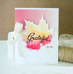 Grateful For You Card by Danielle Flanders for Papertrey Ink (August 2015)