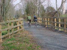 Ah the ole' LV Rail Trail - loving my bike rides this year