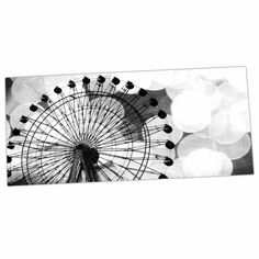 "Sylvia Coomes ""Black And White Ferris Wheel"" Black White Desk Mat"