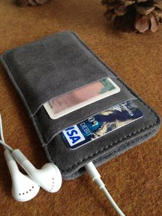 Leather iPhone Wallet  iPhone 4/4S by ProfectusLeather on Etsy