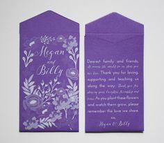 Custom Printed Seed Packet Wedding Favors  Many by Megmichelle #weddinginspiration #purplewedding #2017weddingtrends #weddingfavor #customweddingfavor
