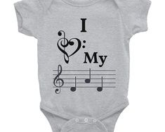 Such a cute onesie for a music lover! Every musical baby needs one of these. Cool gift idea.   # musiconesie #musiconesiesbaaby #musicbabyclothes #musicbabyshowertheme #musicbabyroom #musicbabynursery #musicbabyoutfit