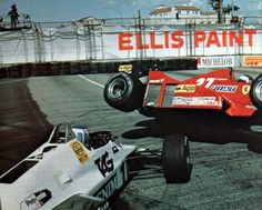 Long Beach 1983 Rosberg tried to grab the lead, misjudged it and rammed Tambay