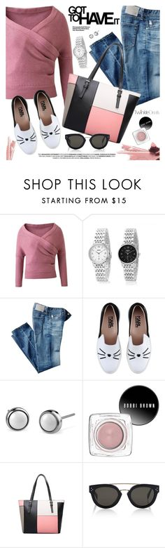 """Casual Style"" by pokadoll ❤ liked on Polyvore featuring AG Adriano Goldschmied, Karl Lagerfeld, Bobbi Brown Cosmetics, CÉLINE, Hedi Slimane, polyvoreeditorial and polyvoreset"