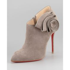 Women's Christian Louboutin Mrs. Baba Suede Bootie ❤ liked on Polyvore