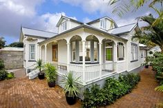 Beautiful country home which oozes character Beautiful Home Designs, Beautiful Homes, White Picket Fence, Picket Fences, Farmhouse Trim, Character Home, Fantasy House, Australian Homes, Front Deck