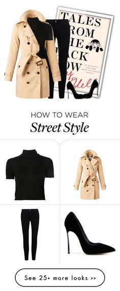 """""""NYFW Street Style"""" by plurbit on Polyvore featuring Burberry, Rosetta Getty, Casadei, StreetStyle and talesfromthebackrow"""