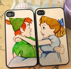 Peter and Wendy Cute Couple phone case for iphone 4/4s 5/5s Galaxy s3 s4 s5