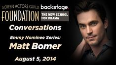 Conversations with Matt Bomer This was done quite a few years ago, when he had appeared on The Normal Heart, and this is another side of Matt Bomer that, no one seems to see, enjoy Love Linda xxoo Matt Bomer Simon Halls, Matt Bomer White Collar, The Normal Heart, Ryan Murphy, Mark Ruffalo, Young Actors, Julia Roberts, Work Today, Backstage