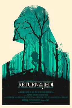 Return of the Jedi Movie Poster Re-imagined by Olly Moss
