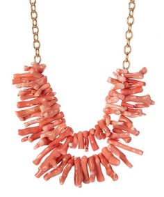 Look what I found on #zulily! Pink Coral Bib Necklace by Barse #zulilyfinds