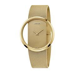 Γυναικείο quartz ελβετικό ρολόι Calvin Klein K9423Y29 Glam με διαφανές καντράν και επίχρυσο μπρασελέ σε στυλ ψάθας | Ρολόγια CK ΤΣΑΛΔΑΡΗΣ στο Χαλάνδρι #Calvin #Klein #Glam #tsaldaris