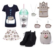 """Pusheen Lover"" by legendarys4life ❤ liked on Polyvore featuring Gund, women's clothing, women, female, woman, misses and juniors"