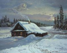 Yağlıboya Kar Resimleri