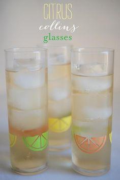 DIY Glass DIY Citrus Collins Glass DIY Glass