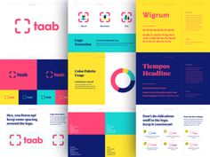 Taab Brand Guide designed by Kyle Anthony Miller. Connect with them on Dribbble; Web Design, Logo Design, Brand Identity Design, Graphic Design, Media Design, Brand Design, Design Art, Design Ideas, Design Inspiration