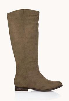 Classic Faux Suede Boots | FOREVER 21 - 2000074974