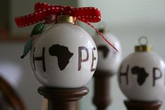 Hope for Africa Ornament ~ this hangs on our Christmas tree