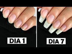 COMO CRESCER 4 CM DAS UNHAS EM 1 SEMANA (RECEITA CASEIRA PARA TER UNHAS LONGAS RAPIDAMENTE) - YouTube Make Nails Grow, Grow Long Nails, Acrylic Nails, Gel Nails, Manicure, Nail Polish, Nail Growth Tips, Beauty Hacks Nails, Nails At Home