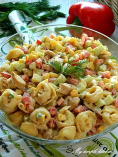 Vegetarian Vs Vegan, Vegetarian Benefits, Vegetarian Main Meals, Vegetarian Pasta Recipes, Salad Recipes, Diet Recipes, Healthy Recipes, Tortellini, Buffet