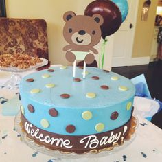 Boy Teddy Bear Baby Shower Cupcake Toppers by LittleSweetParties