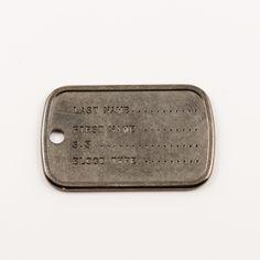Πλακέτα Ταυτότητα Black Nickel (4x2.5cm)