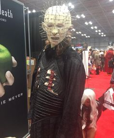 """Your suffering shall be legendary even in Comic Con..."" #Pinhead is having a #Hell of a time! #cosplay #cosplayer #Hellraiser #CliveBarker #NYCC #NYCC15 #NewYorkComicCon #NewYorkComicCon2015"