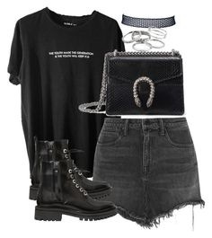 """""""Untitled #2629"""" by theeuropeancloset on Polyvore featuring Alexander Wang, Kendall + Kylie, Gucci and Kendra Scott"""