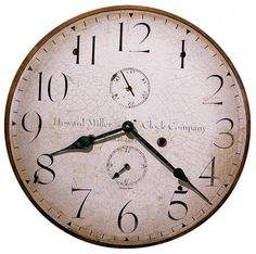 Found it at Clockway.com - 18in Howard Miller Wall Clock - CHM2240