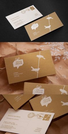 ChickChirik business cards - brand identity