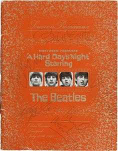 Beatles and Brian Epstein Signed A Hard Day's Night Northern Premiere Souvenir Programme (Liverpool, 1964)