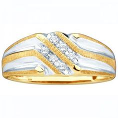 Share and get $20 off your order of $100 or more. 0.14 Carat (ctw) 10k Yellow Gold Round White Diamond Channel Set Men's Wedding Anniversary Band - Dazzling Rock #https://www.pinterest.com/dazzlingrock/
