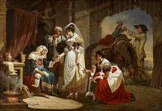 La diseuse de bonne aventure (The Fortune Teller), painted 1784–1785, by Jacques - Henri Sablet (1749-1803) | Collection: National Galleries of Scotland