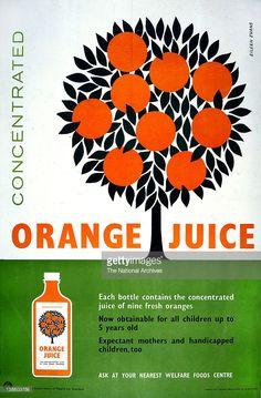 Welfare Foods Centre, Orange Juice poster, 1939-1945