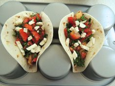 Greek Chicken Tacos ~ http://www.southernplate.com
