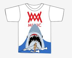 Jaws 2 Tee Pre-orderevery order comes with shark candy.