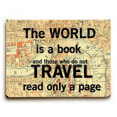 The World Is A Book by Artist Sandra Berney Wood Sign